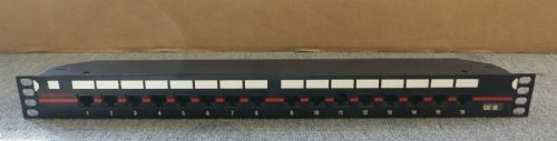 Alpha-Patch 16 Port Cat52 Ethernet RJ45 Rack Mountable Patch Panel 19""